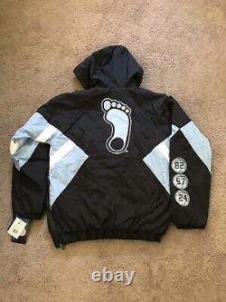 Nwt Unc Tarheels Starter Blue/black Varsity Windbreaker Jacket Sized Small