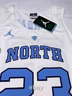 Nwt Xl-2xl Hommes Nike Michael Jordan Elite Unc Tarheels Jets Jersey Cousu