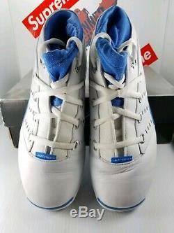 Og 2002 Air Jordan XVII (17) Faible White Carolina 303891141 Sz 11.5 Roues Spéciales