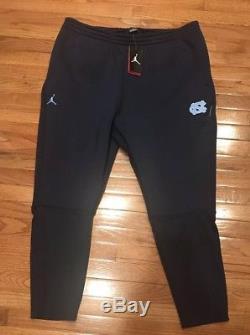 Pantalon Nike Jordan Jordan Unc Tar Heels Pour Homme 4xl XXXXL Nwt 130 $ Marine
