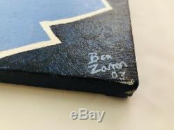 Peinture À L'huile De L'université De Caroline Du Nord Unc Tar Heels 2003 - Ben Zanon