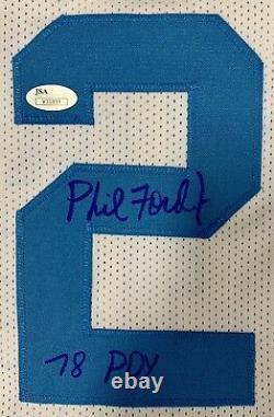 Phil Ford Signé North Carolina Tar Heels Unc (78 Poy) Jersey Jsa