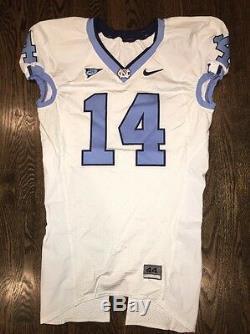 Portés Nike North Carolina Tar Heels Occasion Unc Football Jersey # 14 Taille 44