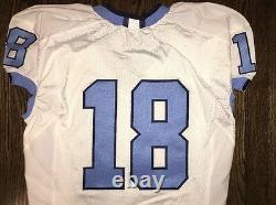 Portés Occasion Nike North Carolina Tar Heels Unc Football Jersey # 18 Taille 44
