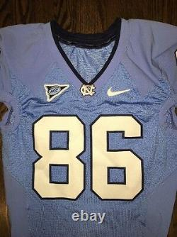 Portés Talons Nike North Carolina Tar Occasion Unc Football Jersey # 86 Taille 40
