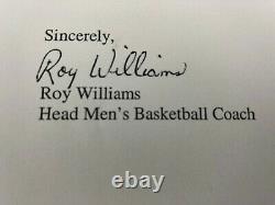 Rare Signed Tar Heels North Carolina Basketball Coach Roy Williams Lettre Unc