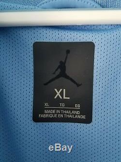 Rare Tn-o. Nike Air Jordan Carolina Tarheels Unc Hyper Elite Jacket Msrp $ 180 XL