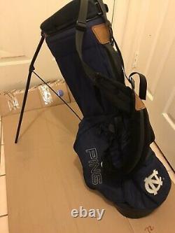 Rare Unc Tar Heels Ping Hoofer Stand Golf Bag Bleu/blanc Nice