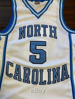 Rare Vintage Nike Ncaa Unc Caroline Du Nord Tar Heels Ed Cota Basketball Jersey