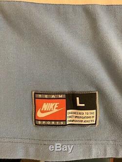 Rare Vintage Nike Unc Tar Caroline Talons Tar Jersey Michael Jordan Warm Up