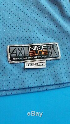 Rare Vintage Nike Unc Tar Talons De Caroline Du Nord Vince Carter Jersey 4xl Cousu