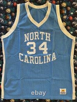 Rare Vintage Sand Knit Unc North Carolina Tar Heels J. R. Reid Basketball Jersey