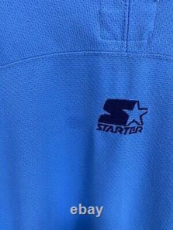 Rare Vtg Starter Unc Tar Talons Caroline Du Nord Hockey Ramses Jersey Taille L