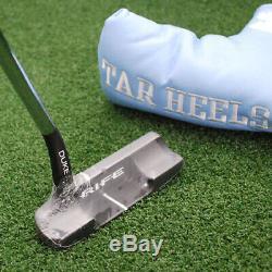 Rife Golf Duke Putter Talons Goudronnés Unc Collegiate De La Ncaa 34 Pouces Nouveau