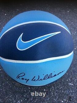 Roy Williams Caroline Du Nord Unc Tar Heels Signé Basketball Camp Taille 7