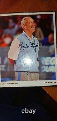 Roy Williams Signé 8x10 Photo Unc Tar Talons Entraîneur De Basketball