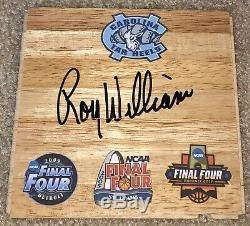 Roy Williams Signé North Carolina Tar Heels Floorboard Ncaa Basketball Unc