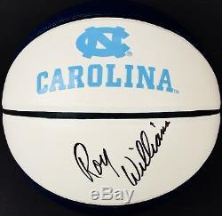 Roy Williams Signé North Carolina Tar Heels Logo Basketball Unc Coa Preuve