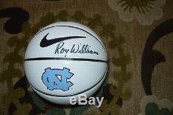 Roy Williams Signé Unc Tar Heels Basketball Caroline Du Nord Autograph