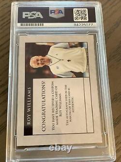 Roy Williams Signed Autograph North Carolina Tar Heels Unc Custom Card Psa/dna