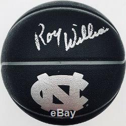 Roy Williams Tar Heels Caroline Du Nord Noir Signé Logo Basketball Unc Coa