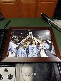 Roy Williams Unc North Carolina Tarheels Signé Trophée 11x14 Photo Encadrée