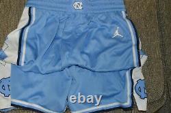 Short De Basket-ball Nwt Pour Homme Unc Carolina Tar Heels Nike Jordan Limited Basketball Shorts (l)