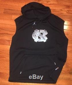 Sweat À Capuche Sans Manches Nike Jordan Unc Carolina Tar Heels Tech 2xl XXL Nwot 160 $ bleu Marine