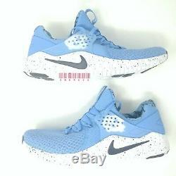 Sz Hommes 10,5 Nike Free Trainer Tr 8 Unc North Carolina Tar Heels Ar0407-400 New