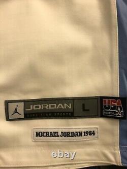 T.n.-o. Michael Jordan 1992 USA Dream Team Unc Nike Réversible Maillot Cousu Sz L