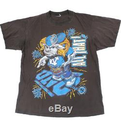 T-shirt Vintage Unc Tarheels Basketball Ncaa Jordan North Carolina Blanc Cassé