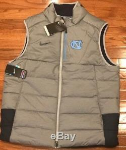 Talons Carolina Unc Nike Tar Hommes Joueur Gilet Full-zip Jacket Grand L Nwt 120 $