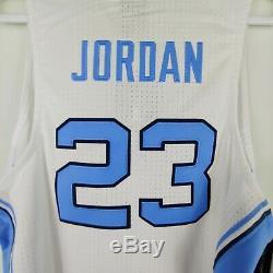 Talons Nike Hommes Unc Caroline Du Nord Tar Jersey Cousu Michael Jordan 23 Blanc