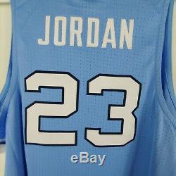 Talons Nike Hommes Unc Caroline Du Nord Tar Jersey Cousu Michael Jordan 23 Bleu