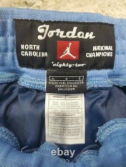 Talons Nike North Carolina Tar Unc Sewn Jordan Retro 1982 Shorts Taille Homme Grand