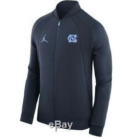 Tar Heels Nike Jordan Unc Aj1 Ailes Bleu Marine Valor Jacket S XL Mens