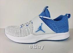 Tn Nike Jordan Trainer 2 Flyknit Unc Tarheels Bleu Blanc 921210-106 Sz-18