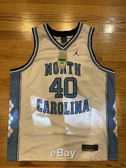 Tn-o New Jordan Brand Unc Tar Heels # 40 Basketball Jersey Taille Grande Nice XL 48
