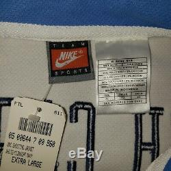 Tn-o Vtg Caroline Du Nord Tar Heels Unc Nike Basketball Jersey Warmup XL Homme