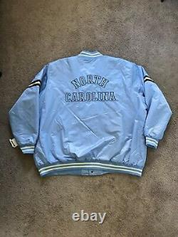 Toute Nouvelle Veste Varsity Blue Starter Unc Tarheels En Caroline Du Nord 5xl