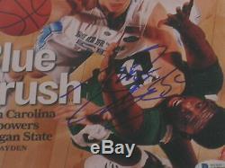 Tyler Hansbrough Unc Tar Heels Signed 8x10 Photo Encadrée Autograph Beckett Coa