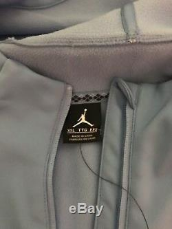 Unc Carolina Tar Heels Veste Nike Air Jordan Shield Aj1 2xl Tn-o. 180 $