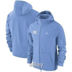 Unc Carolina Tar Heels Veste Nike Air Jordan Shield Aj1 Large L Tn-o. 180 $