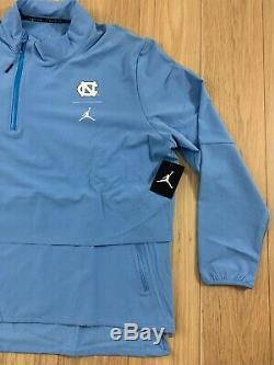 Unc Caroline Du Nord Tar Heels Nike Jordan 23 Shield 1/4-zip Jacket Nwt Sz XL