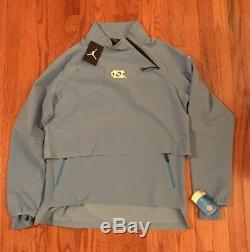 Unc Caroline Du Nord Tar Heels Nike Jordan 23 Tech 1/4-zip Jacket Tn-o Grand L