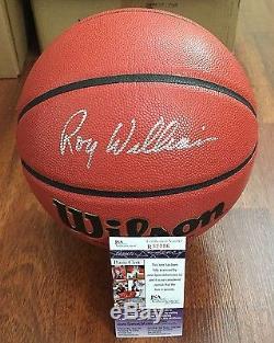 Unc Caroline Du Nord Tar Heels Roy Williams A Signé À La Main Le Basketball De La Ncaa Avec Le Jsa