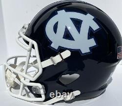 Unc Caroline Du Nord Tarheels Riddell Speed Full Size Custom Blue Football Helmet