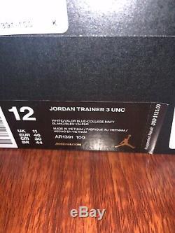Unc Des Hommes De La Caroline Du Nord En Caroline Du Nord 3 Chaussures Sneakers Taille 12 Tar Talons