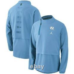 Unc North Carolina Tar Heels Nike Jordan 23 Tech 1/4-zip Jacket Moyen Nwt $180