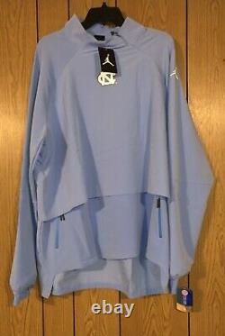 Unc North Carolina Tar Talons Nike Jordan 23 Tech 1/4-zip Shield Jacket Taille Med